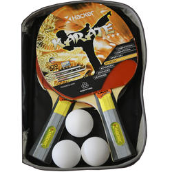 Kit de Ping Pong Hacker Kit 2 paletas + 3 Pelotas 4*